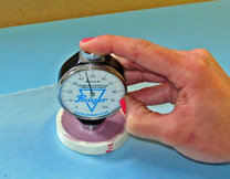 5. Allow to cure for 30 minutes & check with the durometer.